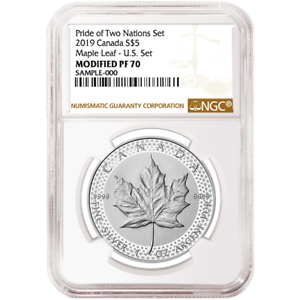 2019-Modified-Proof-5-Silver-Canadian-Maple-Leaf-NGC-PF70-Brown-Label-Pride-of