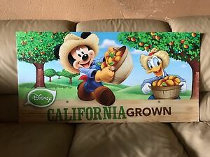 RARE-ALBERTSONS-STORE-DISNEY-DISPLAY-MICKEY-MOUSE-DONALD-DUCK-DOUBLE-SIDED-SIGN