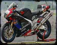 Aprilia Rsv Mille Haga 4 A4 Metal Sign Motorbike Vintage Aged