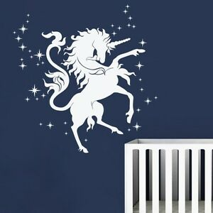 Unicorno-Star-Wall-Decal-Fairy-Motivation-Horse-Animal-Vinyl-Art-Removable-Decor
