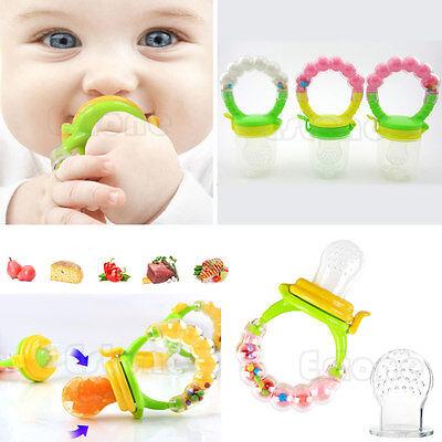 Cute Nipple Fresh Food Milk Nibbler Feeder Feeding Tool Bell Safe Baby Supplies