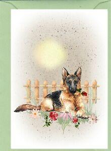 German-Shepherd-Dog-4-034-x-6-034-Blank-Card-Mothers-Day-Birthday-Valentines-etc