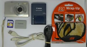 Canon-IXUS-90-IS-10-0MP-Digital-Camera-Silver-4-GB-Memory-Card-Case