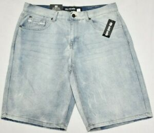 Ecko-Unltd-Jean-Shorts-Men-039-s-759-Relaxed-Fit-Denim-Short-Light-Vintage-Wash-P542