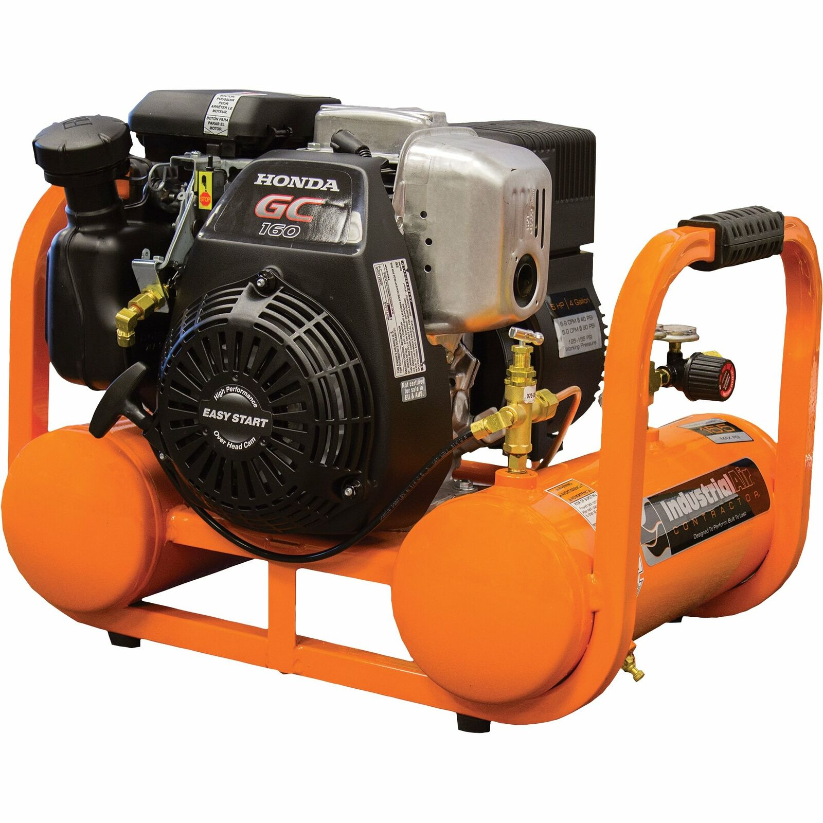 Industrial Air Contractor Pontoon Air Compressor w/Honda OHC Eng 4 Gal 155 PSI. Available Now for 619.99