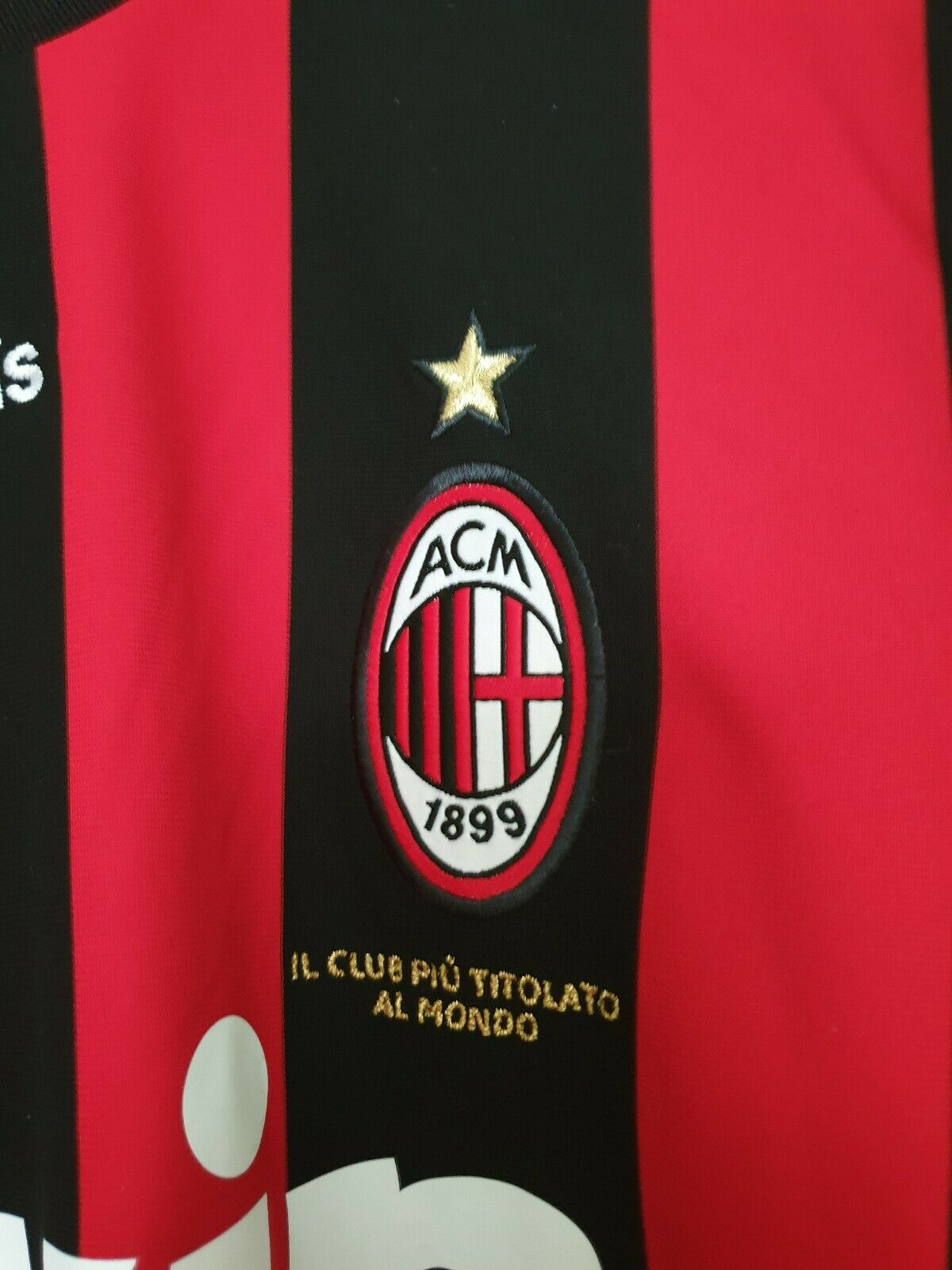 MAGLIA MILAN RONALDINHO MATCH WORN ISSUE CLIMA COOL 80 VINTAGE XL 2009