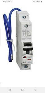 MK Sentry 50A 50 Amp Type B B50 RCBO 30ma 6kA Single Pole Breaker 07939S Aardlekschakelaars