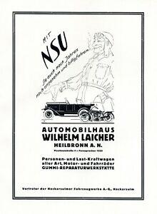 Autohaus Laicher Heilbronn Xl Publicité 1926 Nsu Publicité-afficher Le Titre D'origine Pmc7yyob-10115810-546059046