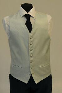 SystéMatique W1124. Homme/garçons Bleu & Argent Géométrique Gilet/robe/suit/formel-afficher Le Titre D'origine