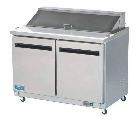 """Arctic Air AST48R 48"""" Commercial Refrigerated Sandwich & Salad Prep Table NEW!"""