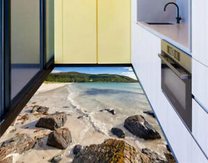 Constructif 3d Coastal Mountain Living Room Kitchen Floor Stickers Removable Waterproof