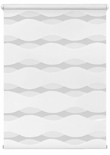 Doppelrollo Welle weiß Klemmfix ohne Bohren Vario Seitenzug Duorollo