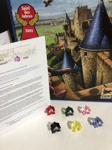 6 Spieler Meeple für Carcassonne Erweiterung Das GefolgeDas Phantom
