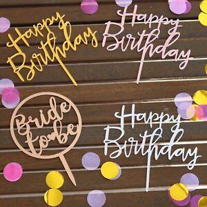 Awe Inspiring Bridal Shower Cake Topper Happy Birthday Cake Toppers Acrylic Funny Birthday Cards Online Aeocydamsfinfo