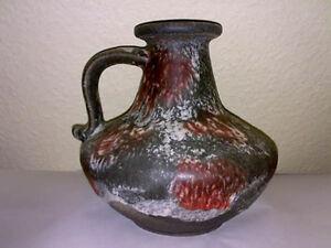 Vase-RUSCHA-KERAMIK-377-21-LAVA-FOAM-WGP-60s-H-21-cm