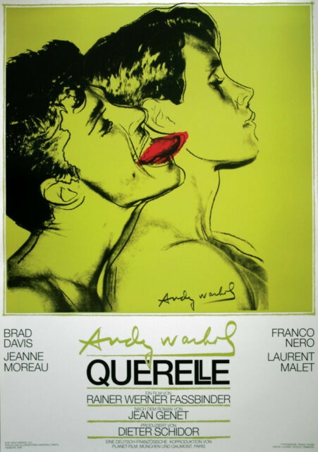 ANDY WARHOL - Querelle (Green) ORIGINAL 1982 FILM POSTER Art Print  1st Printing