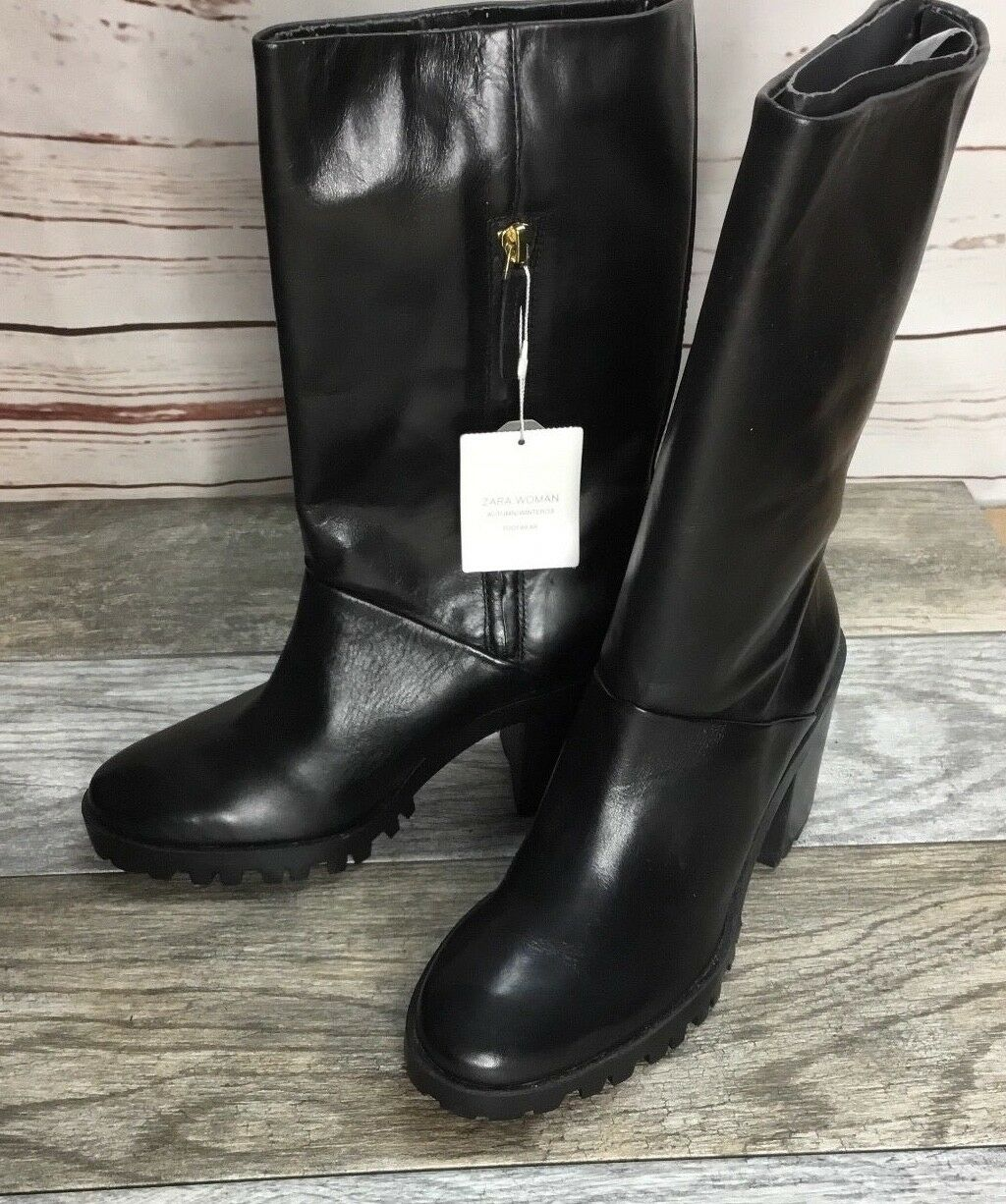 New Leather Zara femmes bottes Taille 8