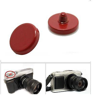 Soft Release Shutter Button For FUJI Fujifilm X10 X100 X-Pro Leica ( RED ) flat