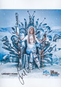 LINDSEY-VONN-2-Olympia-2018-USA-Foto-20x30-signiert-IN-PERSON-Autogramm-signed