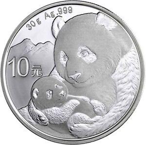 China-Panda-10-Yuan-2019-Silber-Anlagemuenze-Stempelglanz-in-Muenzkapsel