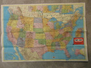 Lot of 9 Vintage Various State Maps and More 1940s 1950s