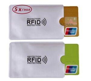 5x-RFID-Schutzhuelle-Blocker-NFC-Datenschutz-Abschirmung-EC-Karte-Kreditkarte