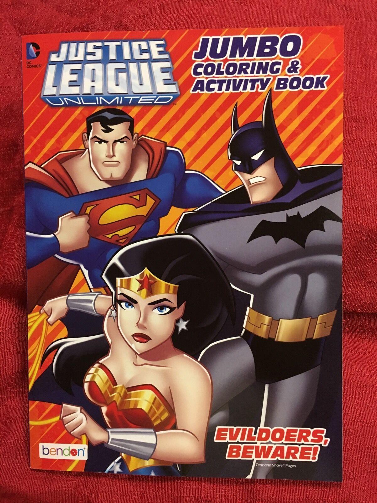 Justice League Superman Batman Jumbo Coloring Activity Book Color DC Comics