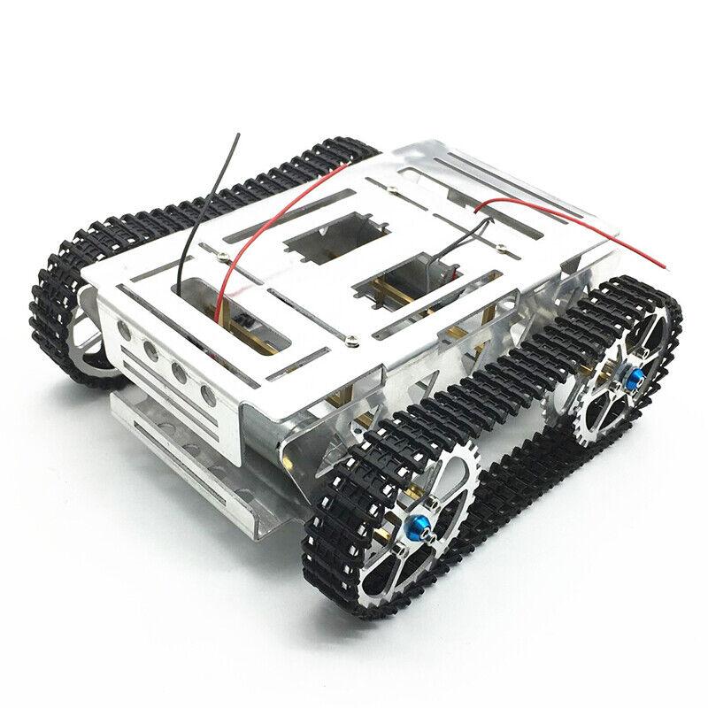 Aleación de Aluminio Hágalo usted mismo se realiza un seguimiento de radio control robot auto tanque de chasis con Set sobre orugas