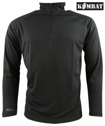 Mens Army Military Operators Mesh Tactical Top Zip Neck Long Sleeve T-shirt New