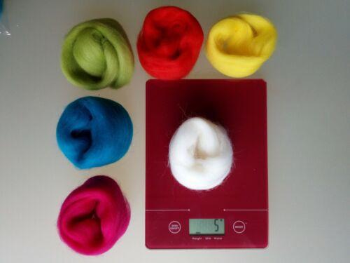 60 o 90 G Pura Lana Merino para aguja y húmedo fieltrar envases de 30 Bright conjuntos