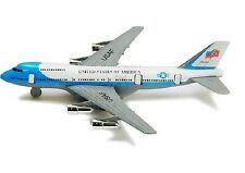 """New 8"""" Diecast Toy passenger airplane jet 747 look alike plane Pull Back action"""