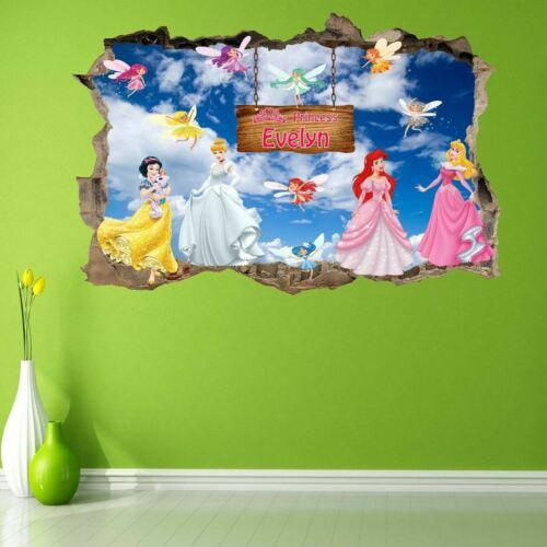 Princess Personalised Name Wall Art Sticker Mural Decal Custom Name GS13