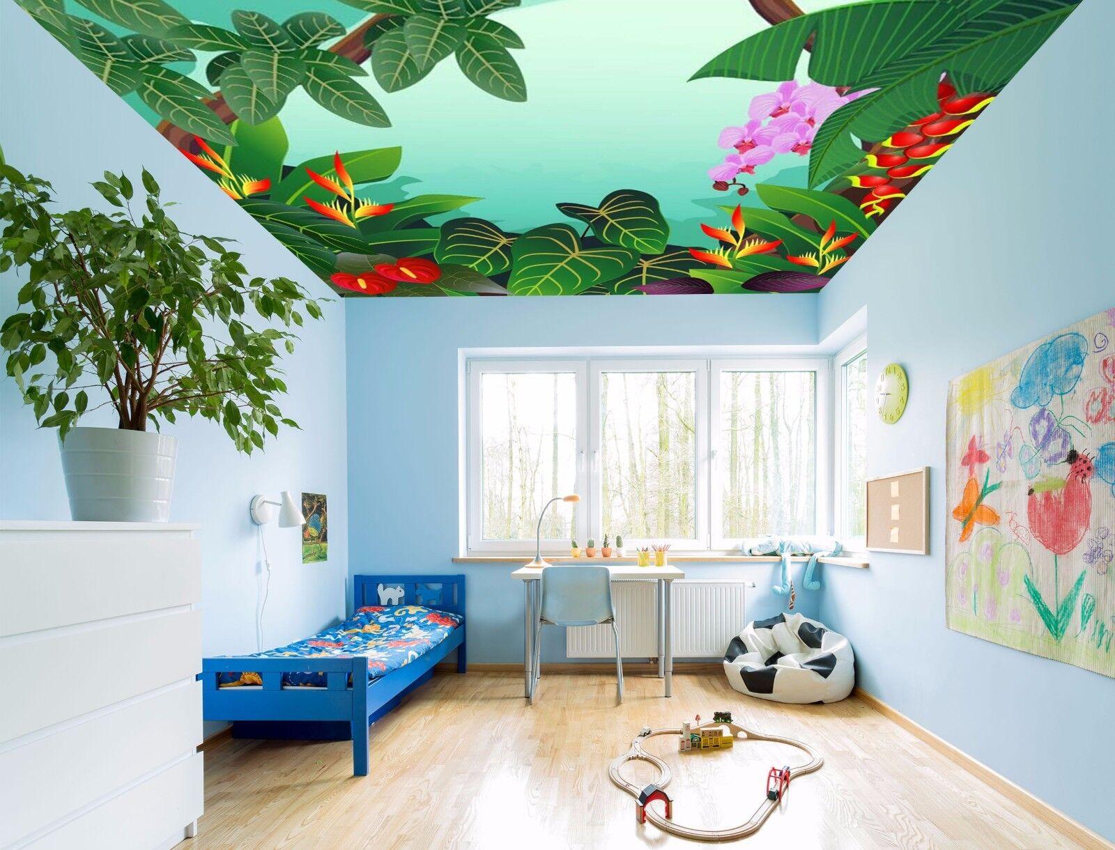 3D Cute Leaves 85 Ceiling WallPaper Murals Wall Print Decal Deco AJ WALLPAPER GB