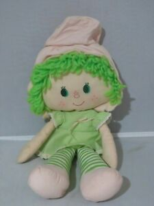 Vintage-Strawberry-Shortcake-Lime-Chiffon-Rag-doll-Kenner-1980s