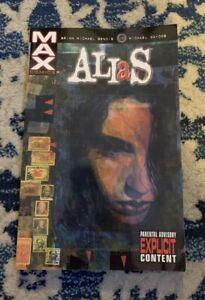 ALIAS-VOL-1-TPB-BRIAN-MICHAEL-BENDIS-JESSICA-JONES-MARVEL-MAX-COMICS-ISSUES-1-9