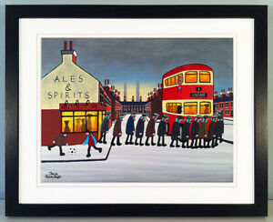 """JACK KAVANAGH """"GOING TO THE MATCH"""" SCUNTHORPE UNITED FRAMED PRINT"""