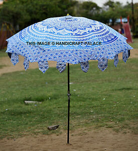 Awesome Image Is Loading Indian Garden Umbrella Ombre Mandala Cotton Large Patio