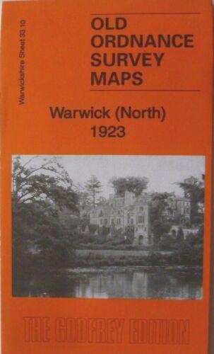 Old Ordnance Survey Map Historic Town Warwick Warwickshire 1923  Godfrey Edt N