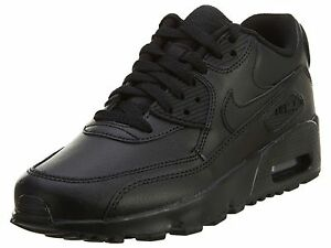 reputable site e470c 04212 Details about Nike Air Max 90 Ltr Gs Big Kids 833412-001 Black Athletic  Shoes Youth Size 6