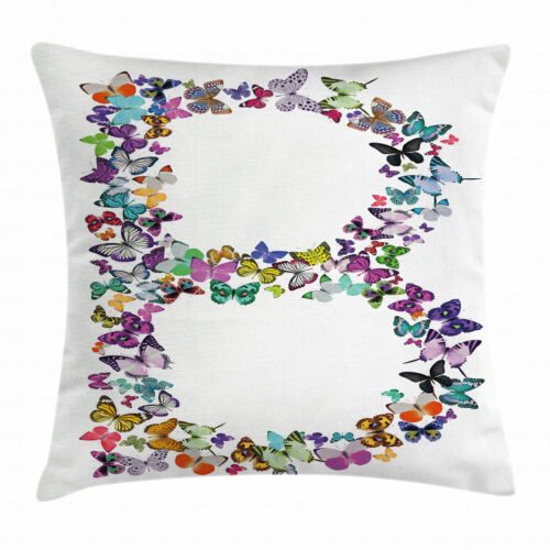 Butterfly Letters Throw Pillow Cases Cushion Covers Home Decor 8 Sizes