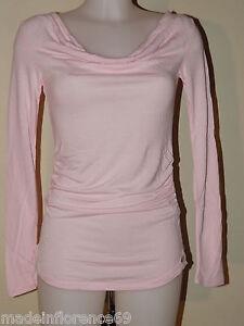 L Maglietta S Pizzo Pastello Rosa Tg Con Fornarina T Shirt Lunga Xs Manica qzvzx4