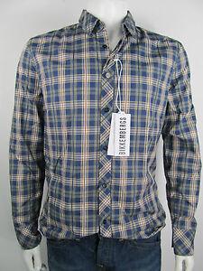 Bikkembergs-Bluse-Herren-Shirt-Hemd-Camicia-Overhemd-Kariert-Neu-XL