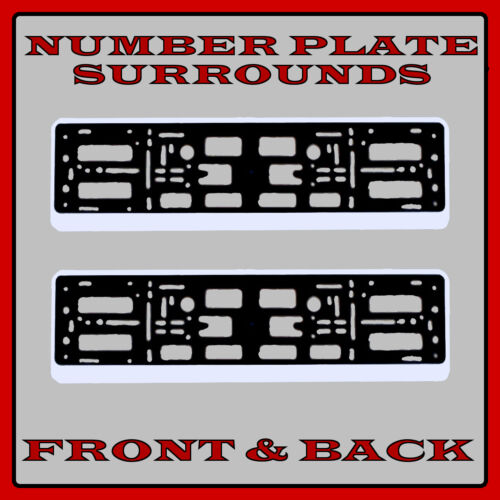 2x Number Plate Surrounds Holder Silver for Mercedes SLK-Class R172