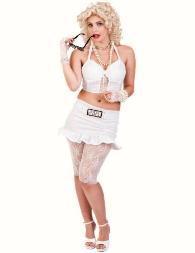 80s pop star Madonna Bad Girl Womans Fancy Dress costume music icon 8 10 12