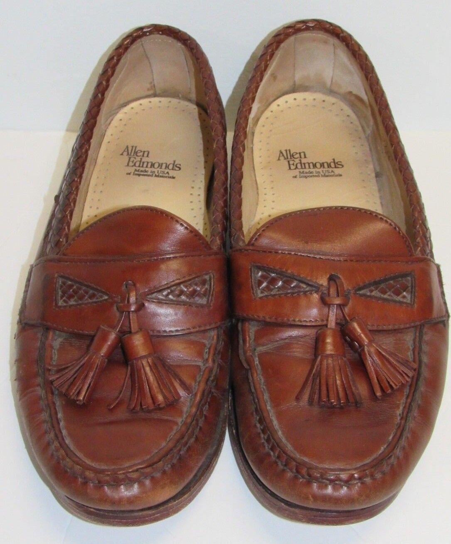 Allen Edmonds Maxfield Moc Toe Tassel Slip On Loafer Dress shoes Men's sz 11 D