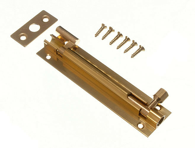 Pacco Quantità 10 - Porta Scorrevole Bullone ad Angolo 63MM 6.3cm Ottone e Viti