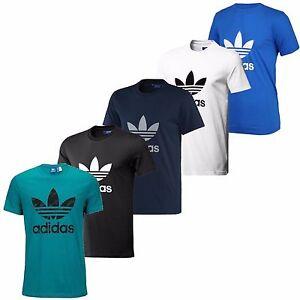 Adidas-Originals-Trefoil-Tee-Crew-Neck-Cotton-Casual-T-Shirt-All-Sizes-S-M-L-XL