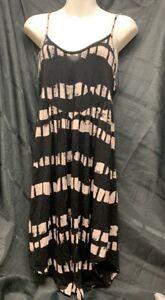 Volcom-Women-s-S-P-10-Black-and-Tan-Spaghetti-Strap-Sun-Dress