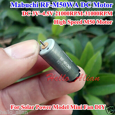 Mabuchi Mini 10mm DC 3V 19000RPM M50 Motor High Speed Large Torque Gear Motor