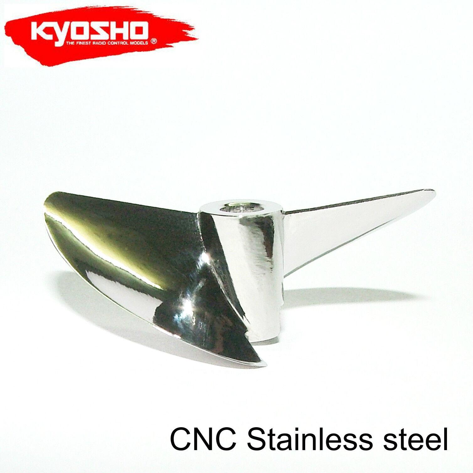 Kyosho JET STREAM 888VE, X543 CNC STAINLESS STEEL  PROPELLER RC BOAT PROP  presa di marca